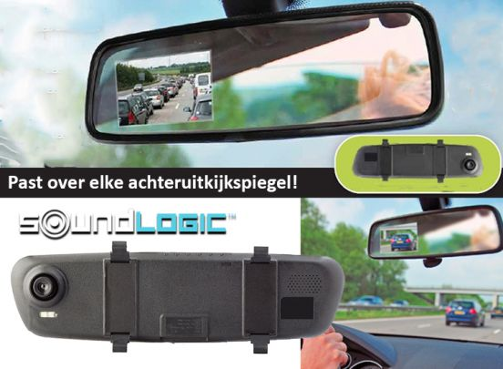 Soundlogic Dashcam - film via de binnenspiegel van je auto