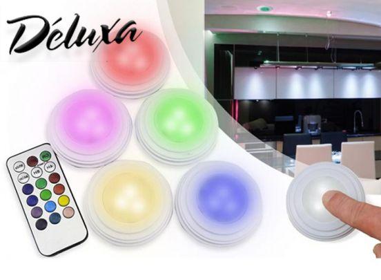 Draadloze LED-Spotjes RGB - 5 Spots met afstandbediening