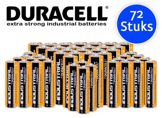 72 duracell industrial batterijen