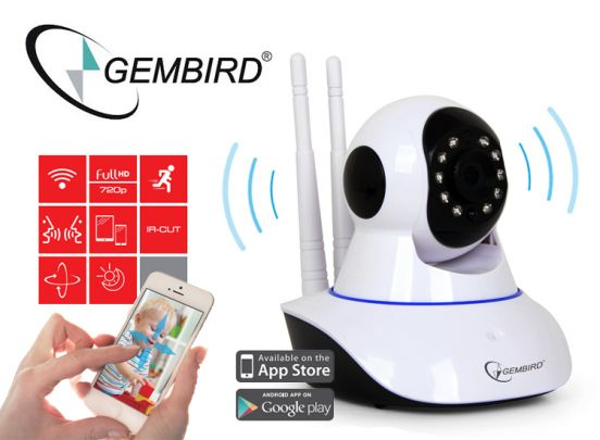 Gembird Draaibare Smart HD WiFi Internet IP Camera
