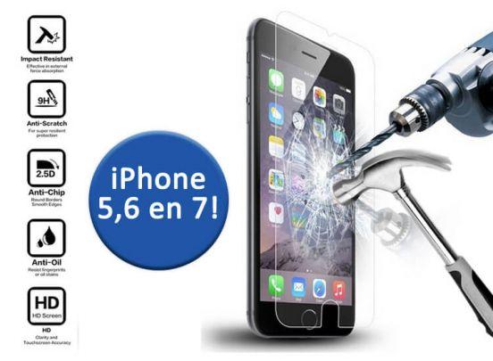 Tempered Glass Screen Protector - voor de iPhone 5(SE), 6(S) of 7