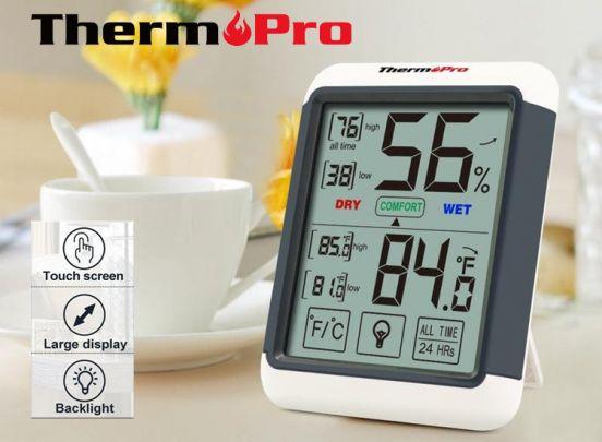ThermoPro TP55 hygrometer - Digitale temperatuur- en vochtigheidsmeter