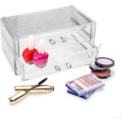 Organizer voor je make-up - Met 2 laden waar je je cosmetica in opbergt