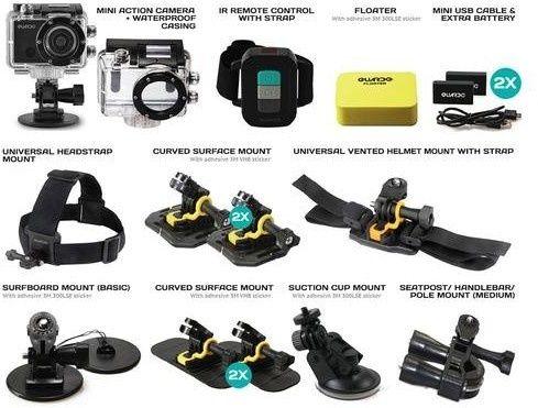 Guardo Action Cam Plus - Met een zeer goede lens - Water-, Stof- en Vuilresistent