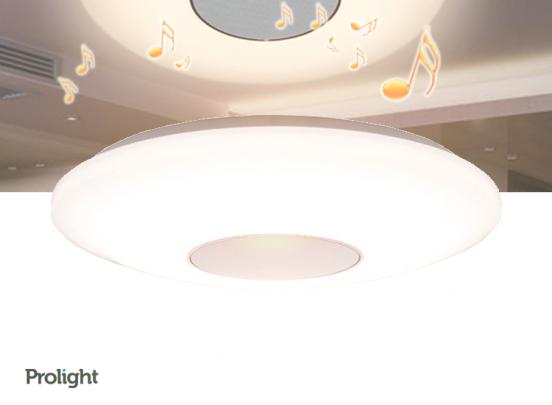 Prolight Plafonnière - Met ingebouwde Bluetooth speaker - 25 Watt