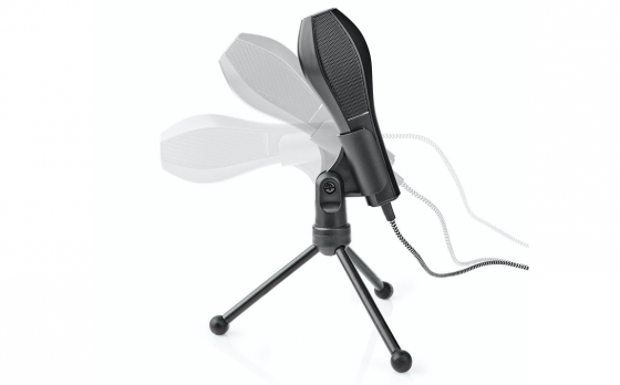 Nedis Bedrade Microfoon | Dubbele Condensator | Met Standaard | USB