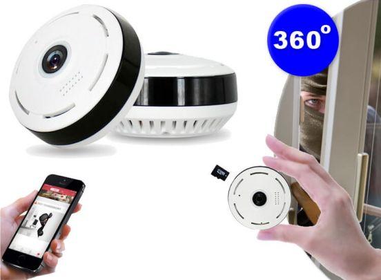 360° Fisheye IP-camera - monitor je hele huis met één camera