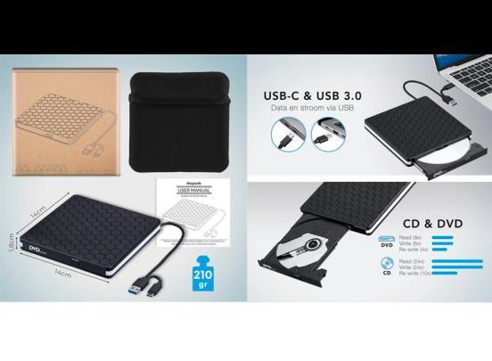 Externe DVD speler/brander - DVD/CD Drive voor laptop of macbook
