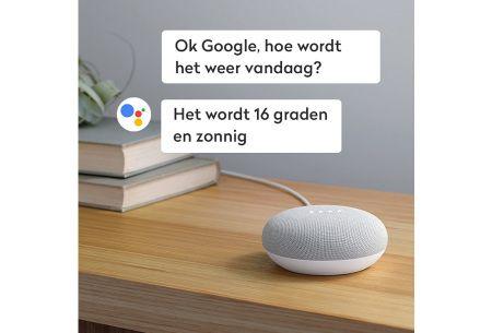 Google home mini - Assistant mini speaker  - Ondersteunt Nederlands - Wit