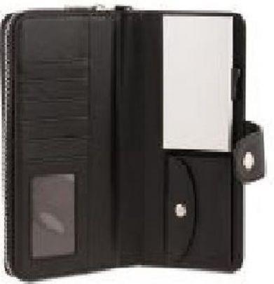 Card Guard uitschuifbare dames portemonnee - Zwart