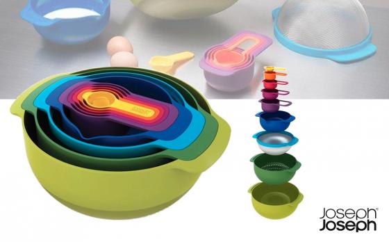 Joseph Joseph Nest 9 Plus Meng- en Maatkommen - set van 9 - verschillende kleuren