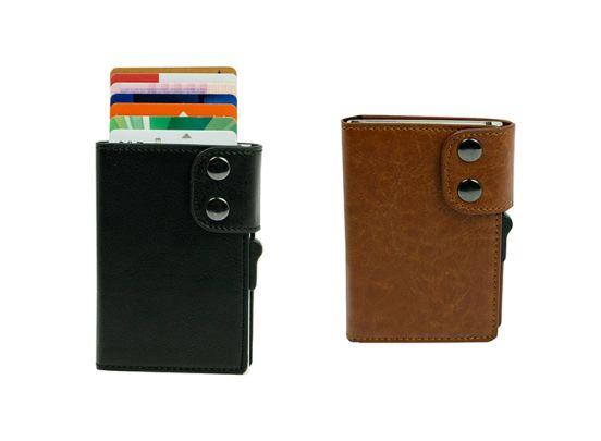 Silvergear Smart Card Wallet - Zwart of Bruin