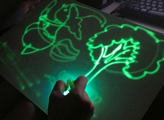 Glow In The Dark Tekenbord - Formaat Groot