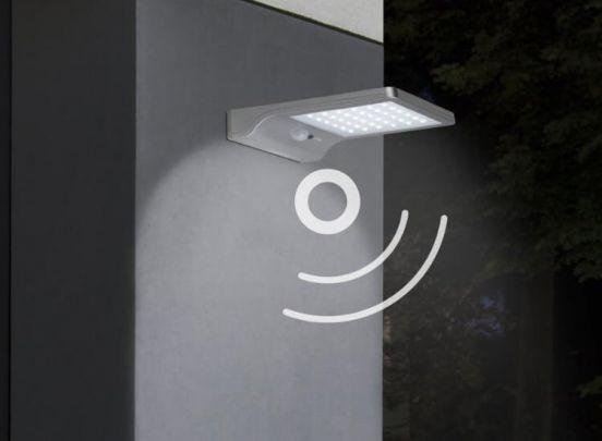 Led lovers Kansas Solar LED Buitenlamp met Bewegingssensor - Zilver