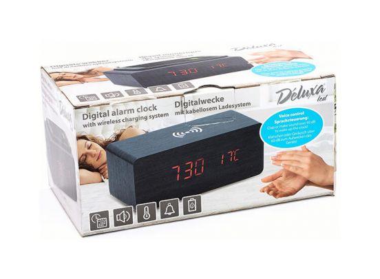 Deluxa wekker met draadloze oplaadfunctie - Qi lader