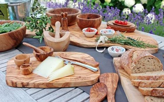 Pure Olive Wood Tapasplank - Olijfhout - 50-55 cm