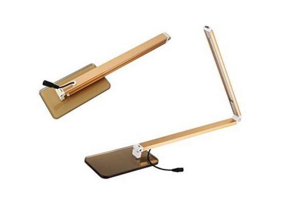 Flexibele Led Bureaulamp - Goud - 3 Standen - 450 Lumen - 3500 Kelvin