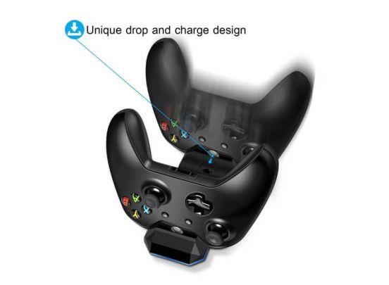 Xbox One Dubbel Controller Oplaadstation met 2 Accu's & Oplaadkabel - Zwart - Docking Station