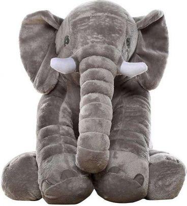Grijze XL olifantknuffel