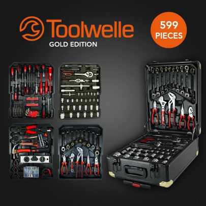 Toolwelle Gereedschapstrolley 599 Delig - Gold Edition