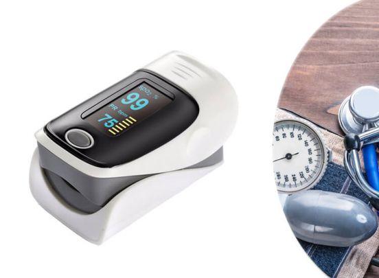 Fingertip Pulse Oximeter - Hartslagmeter - Grijs