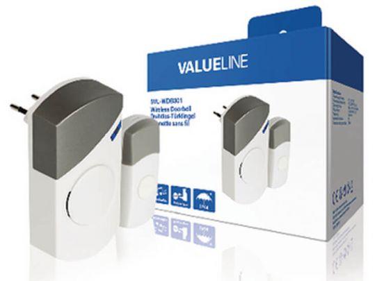 Plug-in Draadloze Deurbel Set 220V 70 dB Wit/Grijs