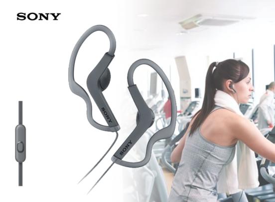 Sony MDR-AS21ABP- Oordopjes voor Sport - Grijs