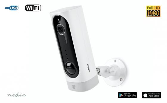 Nedis Oplaadbare IP-camera met bewegingssensor
