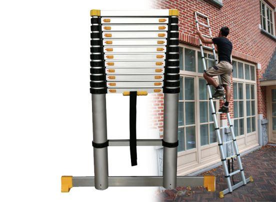 Mr Safe Telescopische ladder - Soft Close - Werkhoogte 3.91m
