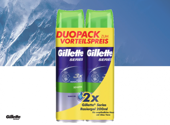 Gillette Sensitive Scheergel - 2x 200 ml