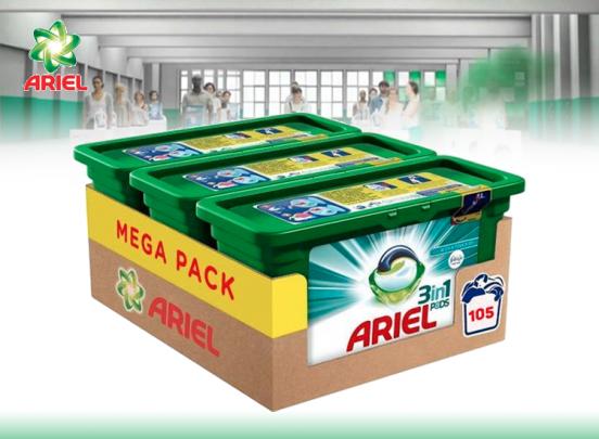 Ariel Pods 3in1 Febreze  - 105 pods