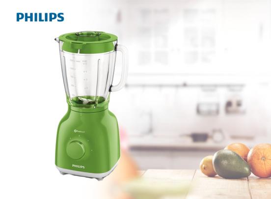 Philips Daily Collection HR2105/30 blender 1,5 l Blender voor op aanrecht Groen 400 W