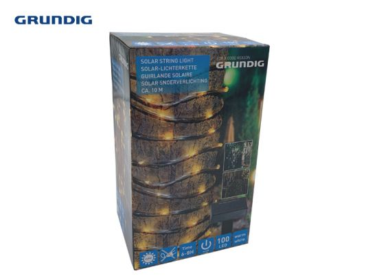 Grundig - Solar snoerverlichting - 10 meter - Inclusief 1x AA
