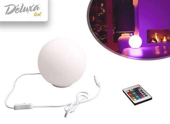 Deluxa RGB Led bol - Ronde tafellamp instelbaar in alle kleuren