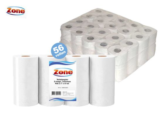 Zone Toiletpapier - 56 rollen - 3 laags wc papier