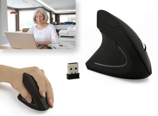 Wireless Ergonomic Vertical Mouse - CM0090E linkshandigge