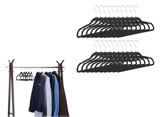 16 kledinghangers zwart