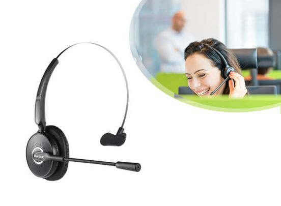 Fedec Windproof Bluetooth Headset - A6