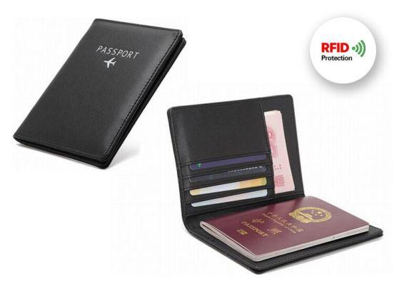 RFID Paspoort Hoes - Kunstleer - Plaats voor 5 extra pasjes