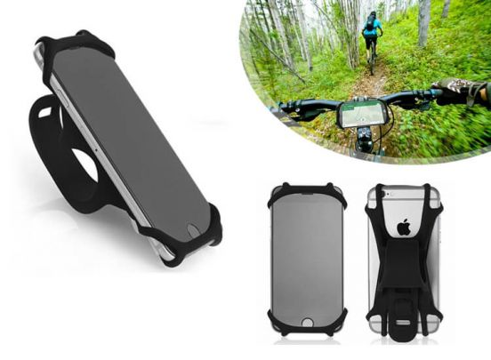 Silicone bicycle mobilephone clip