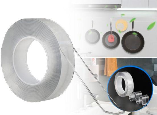 Herbruikbare dubbelzijdig nano tape - 3 meter