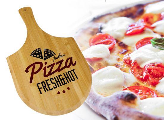 Bamboe Snijplank Pizza Design