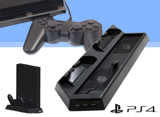 Charging stand voor de PS4 Pro - Oplaadstation met dual ventilator voor je Playstation 4