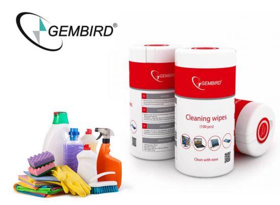 Gembird Cleaning wipes - 300 stuks reinigingsdoekjes voor je beeldscherm