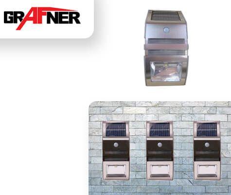 Grafner LED Solar Strahler mit Bewegungsmelder