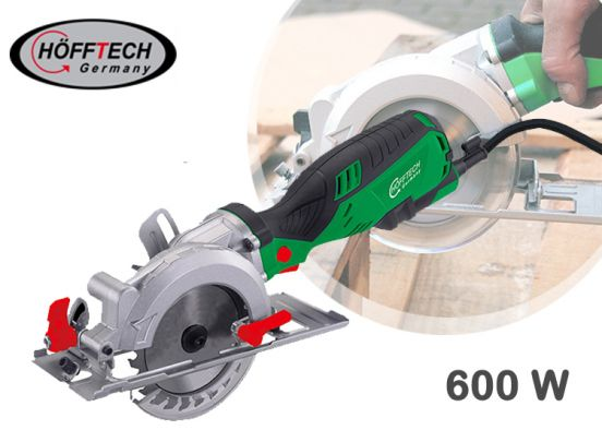 Hofftech handcirkelzaag 600 Watt - Horizontaal, verticaal, recht en rond zagen in alle materialen