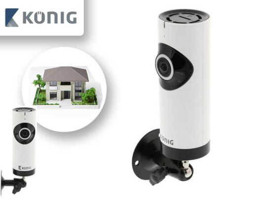 König HD IP-panorama camera - 1280x 720 - Uitgerust met een fisheye-lens