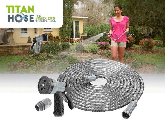 Titan Hoze -  RVS Tuinslang - Flexibel en Licht en beschikbaar in 3 afmetingen