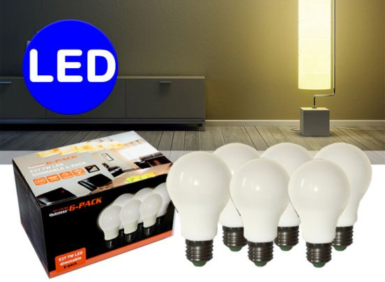 X-QUINTEZZ E27 - 7W LED DIMMABLE 6-PACK