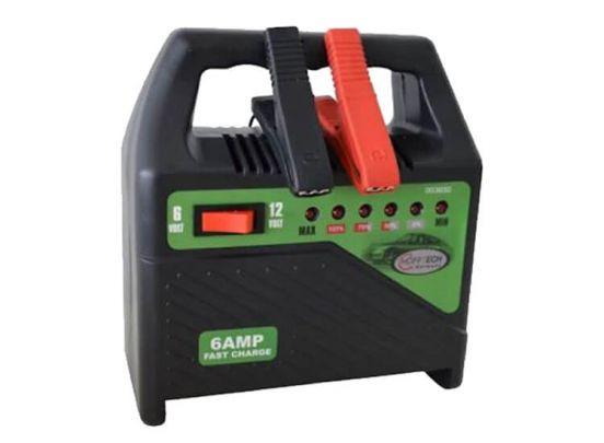 Hofftech Acculader 6 en 12 volt accu's - Output 6 Ampère - 6-traps led-indicator